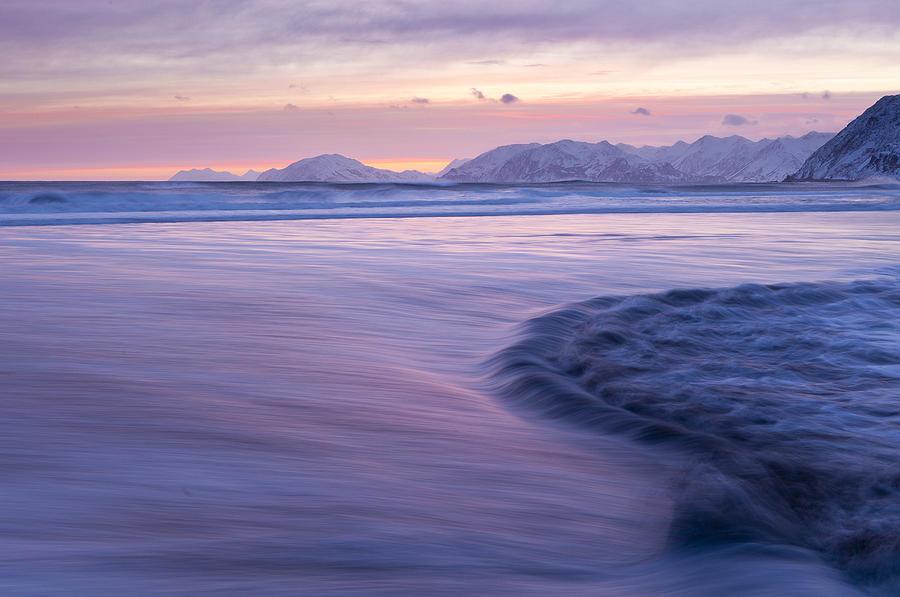Alaska Photograph - Opposing Waves At Sunset by Tim Grams