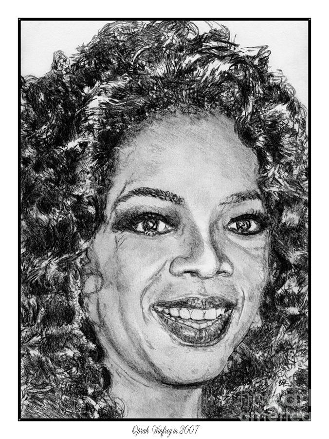 Oprah Winfrey In 2007 Drawing