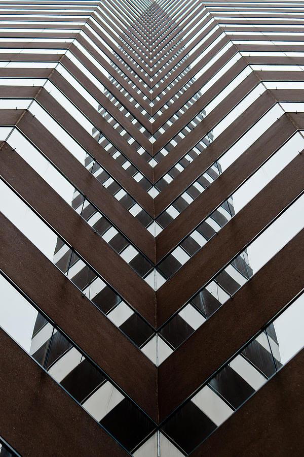 Cincinnati Ohio Optical Illusion High Rise  Photograph - Optical Illusion by Keith Allen