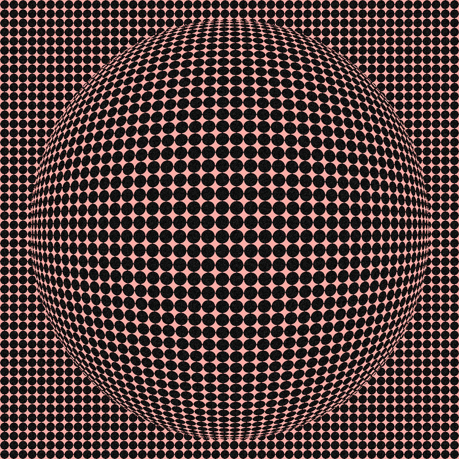 Optical Illusion Red Ball  Digital Art  - Optical Illusion Red Ball  Fine Art Print