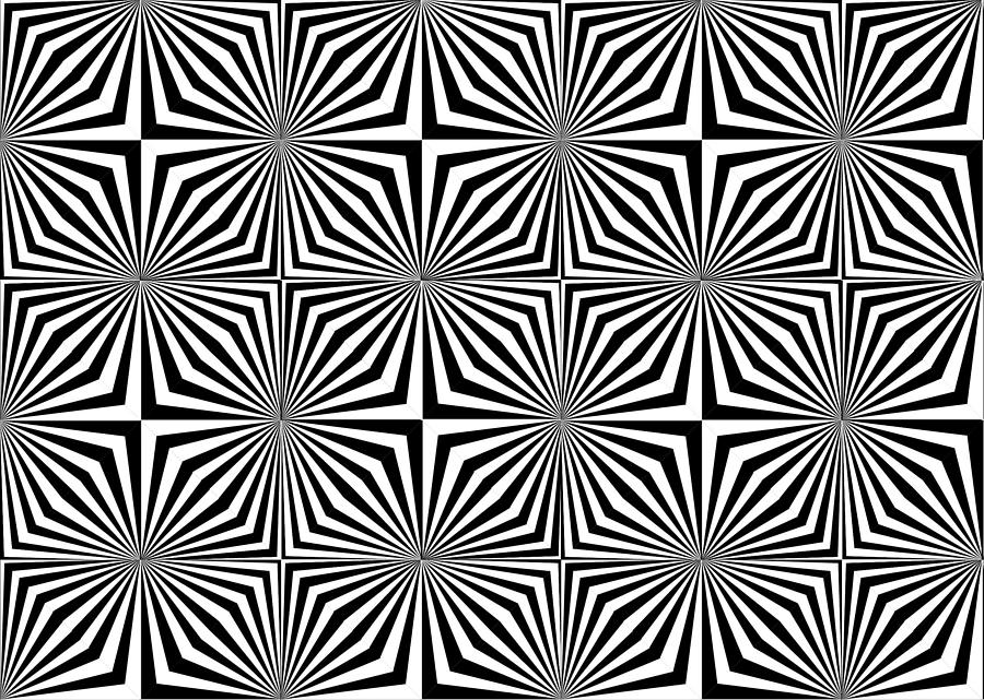 Optical illusion spots or stares digital art by sumit for Op art coloring pages