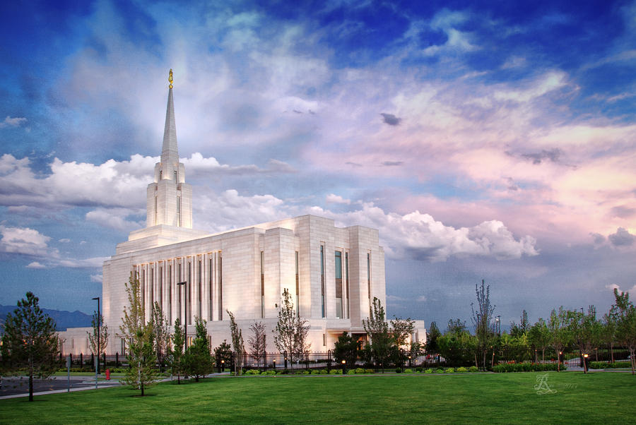 Oquirrh Mt Temple Photograph
