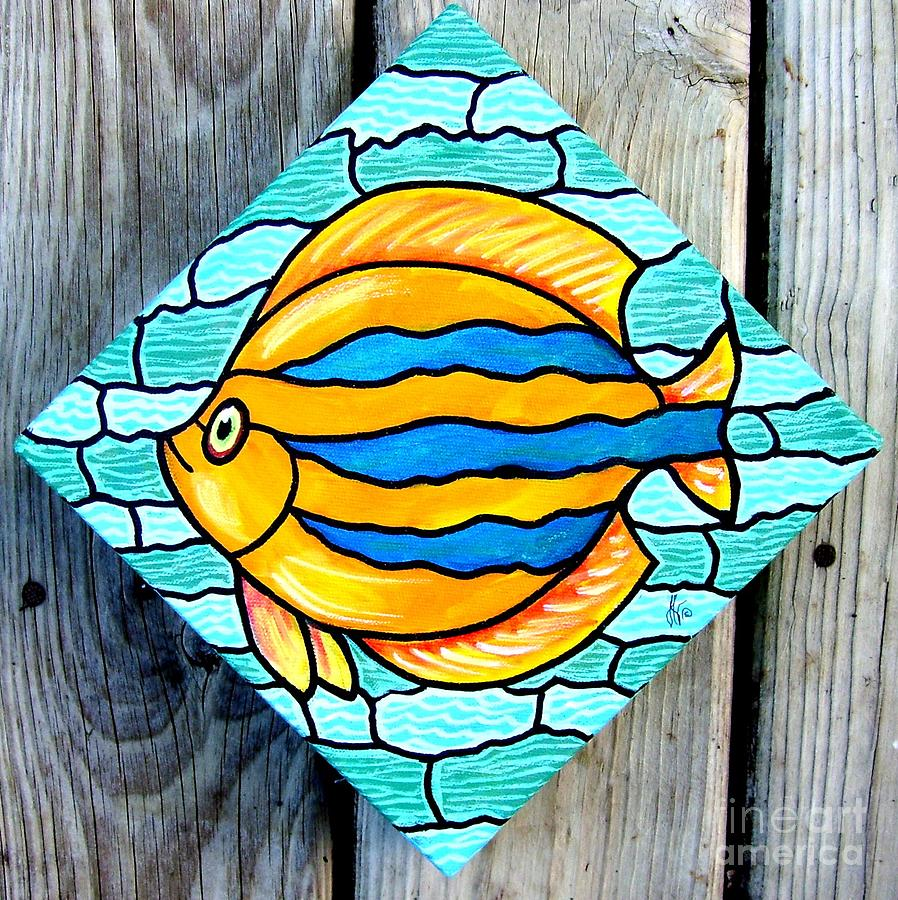 Orange and blue tropical fish by jim harris orange and for Jims exotic fish