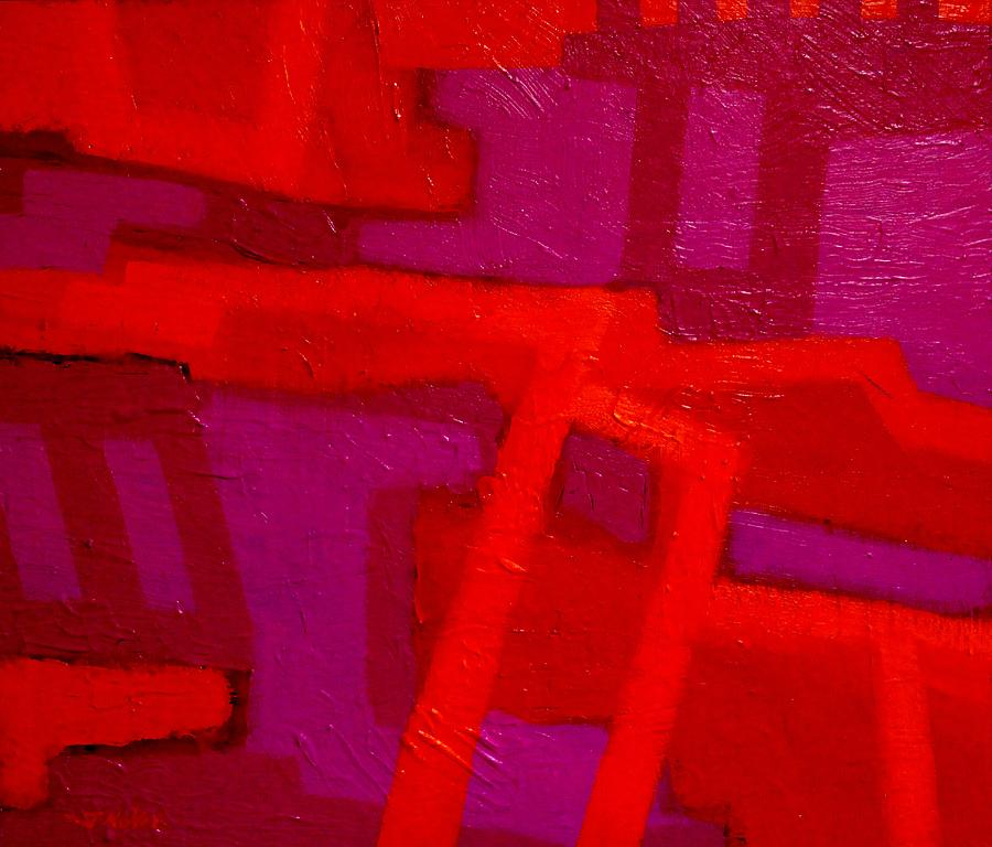 Orange And Magenta Painting