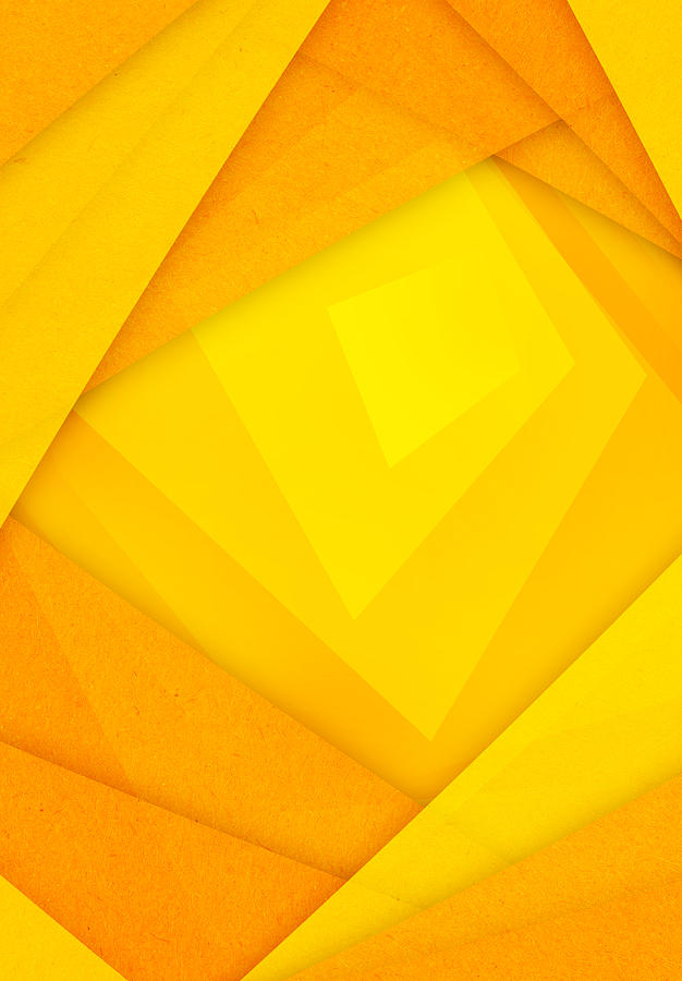 Orange And Yellow Abstract Paper Background by Nattapon Wongwean