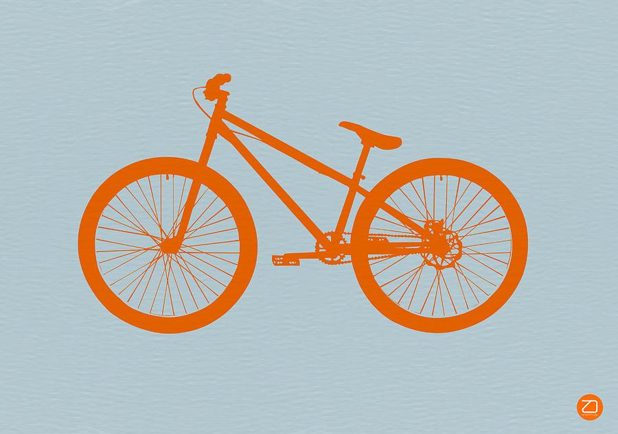 Orange Bicycle  Drawing