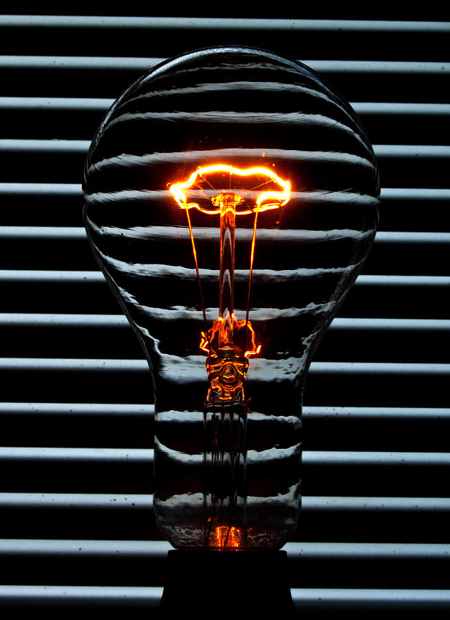 Orange Bulb Photograph  - Orange Bulb Fine Art Print