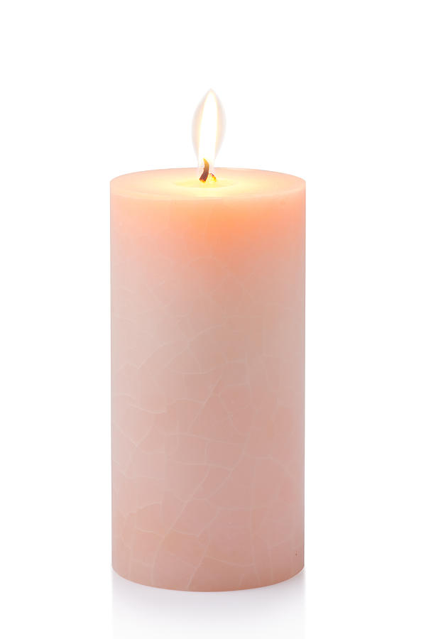 Orange Candle Photograph  - Orange Candle Fine Art Print