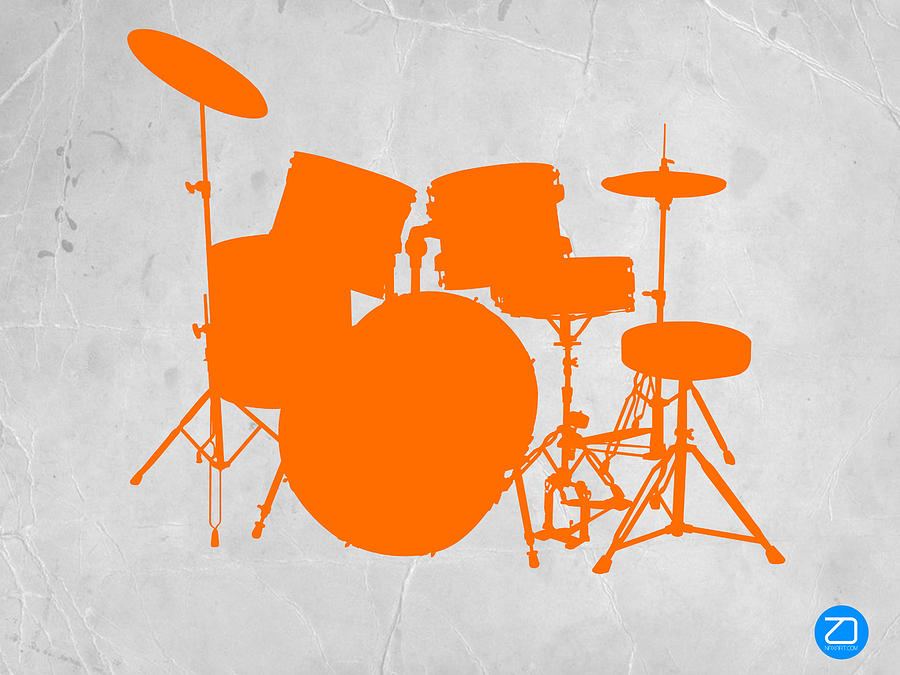 Orange Drum Set Photograph
