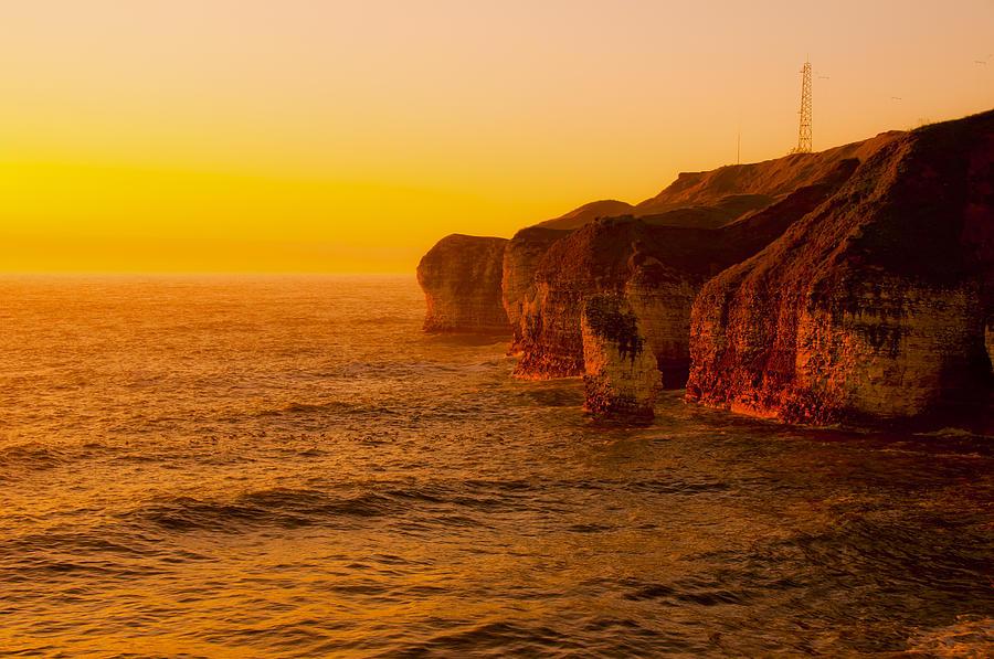 Background Photograph - Orange Dusk by Svetlana Sewell