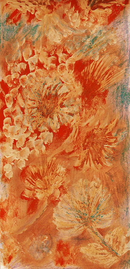Orange Fantasia II Painting  - Orange Fantasia II Fine Art Print