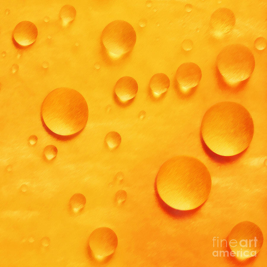 Orange Globes Painting  - Orange Globes Fine Art Print