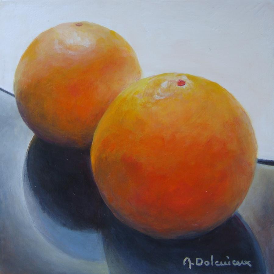 Orange Noir Et Blanc Painting