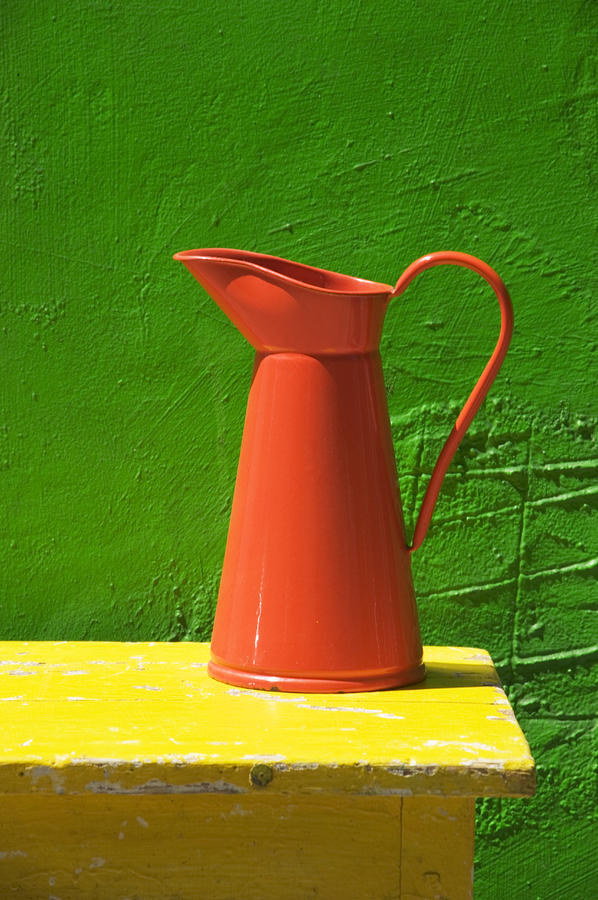 Pitcher Photograph - Orange Pitcher by Garry Gay