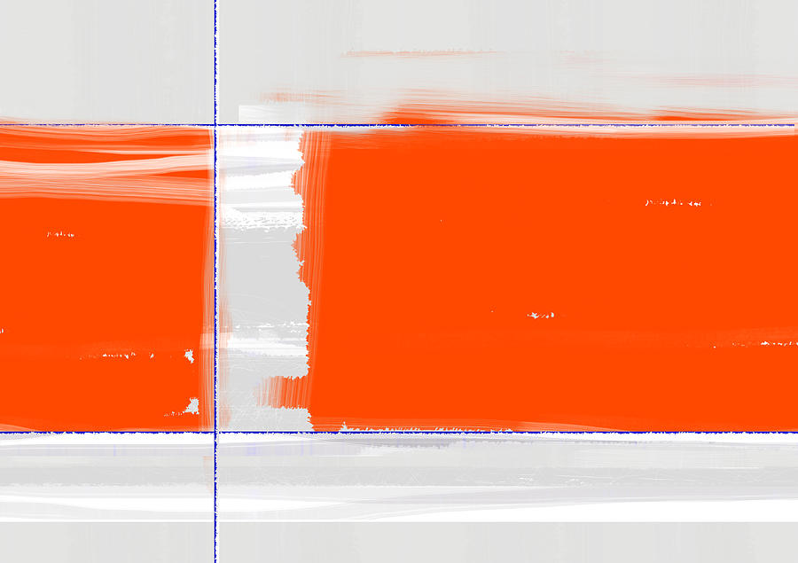 Orange Rectangle Painting  - Orange Rectangle Fine Art Print