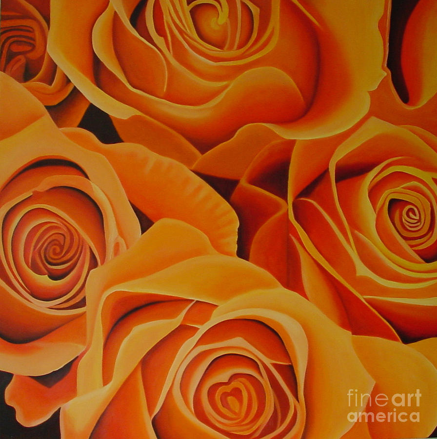 Orange Roses Drawing