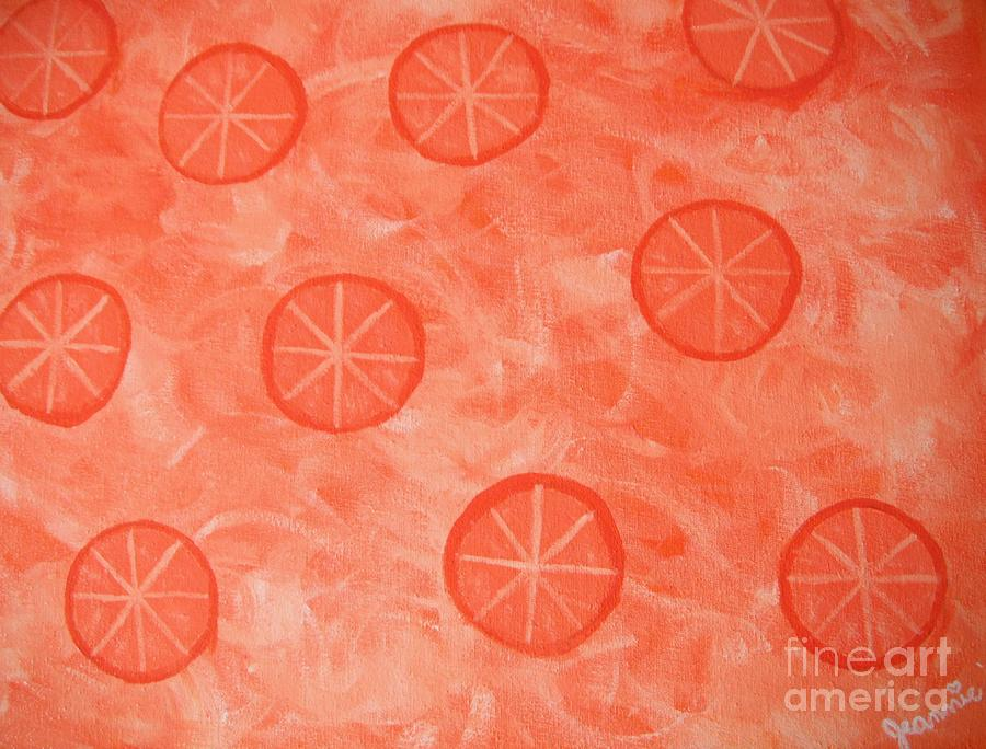 Orange Slices Painting  - Orange Slices Fine Art Print