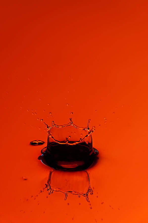 Orange Splash Photograph  - Orange Splash Fine Art Print