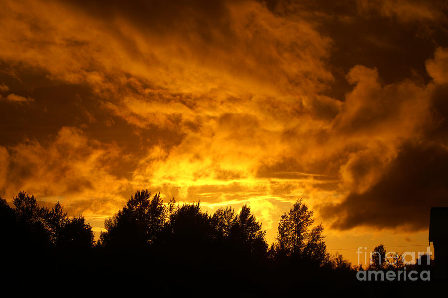 Storms Photograph - Orange Stormy Skies by Randy Harris