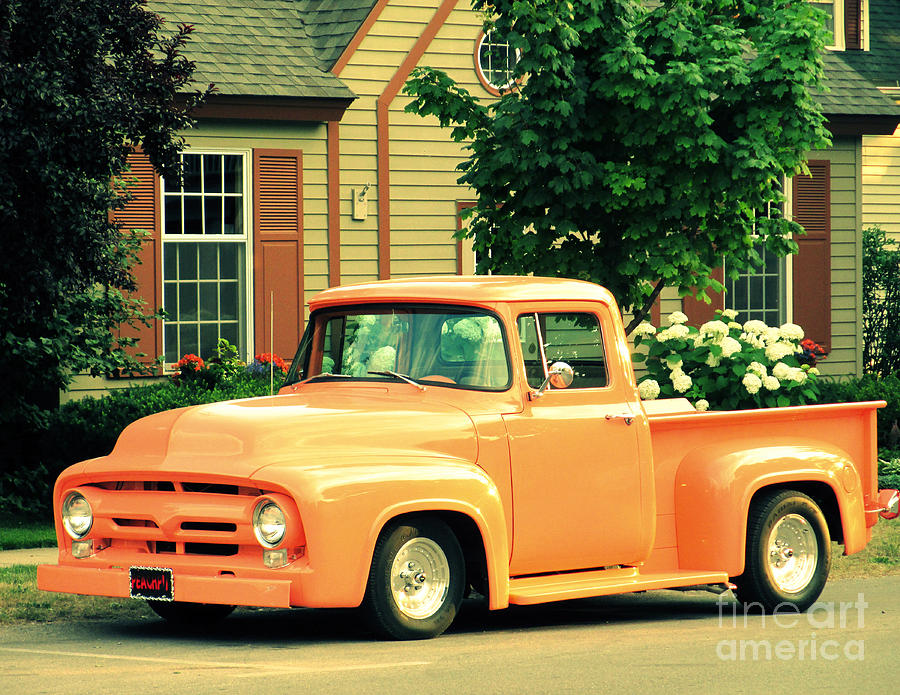 Orange Truck Photograph  - Orange Truck Fine Art Print