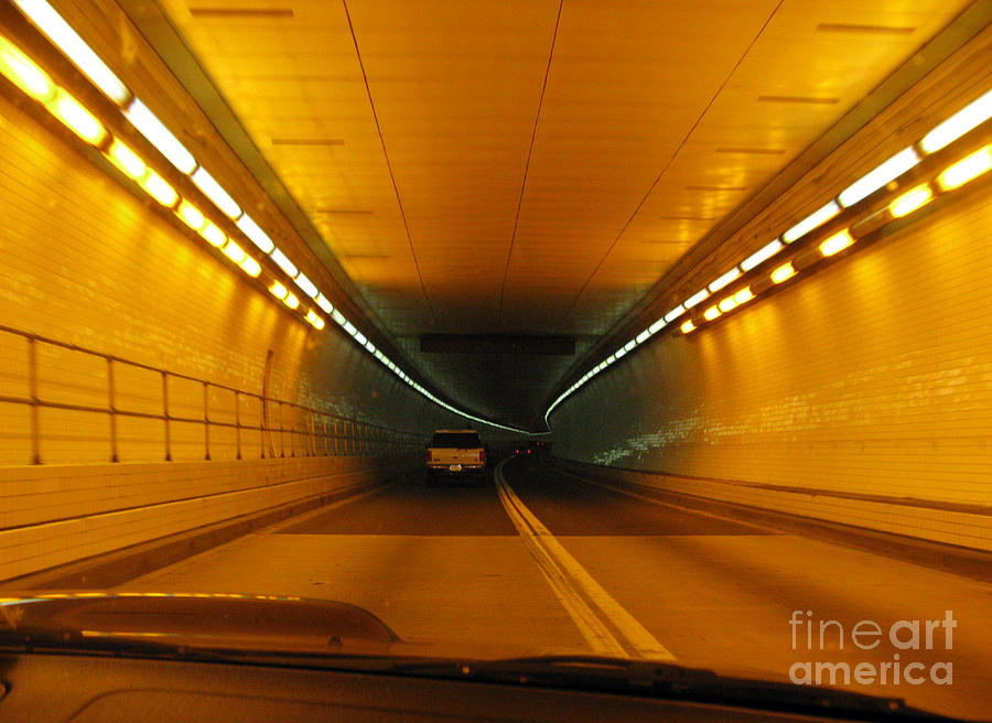 Orange Tunnel In Dc Photograph