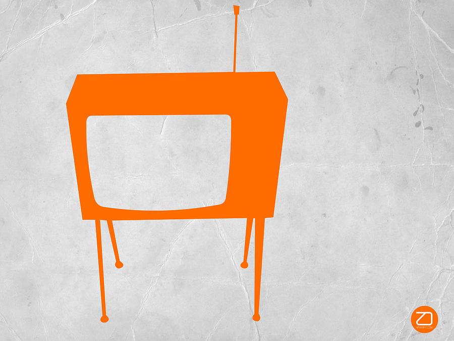 Kids Art Drawing - Orange Tv by Naxart Studio
