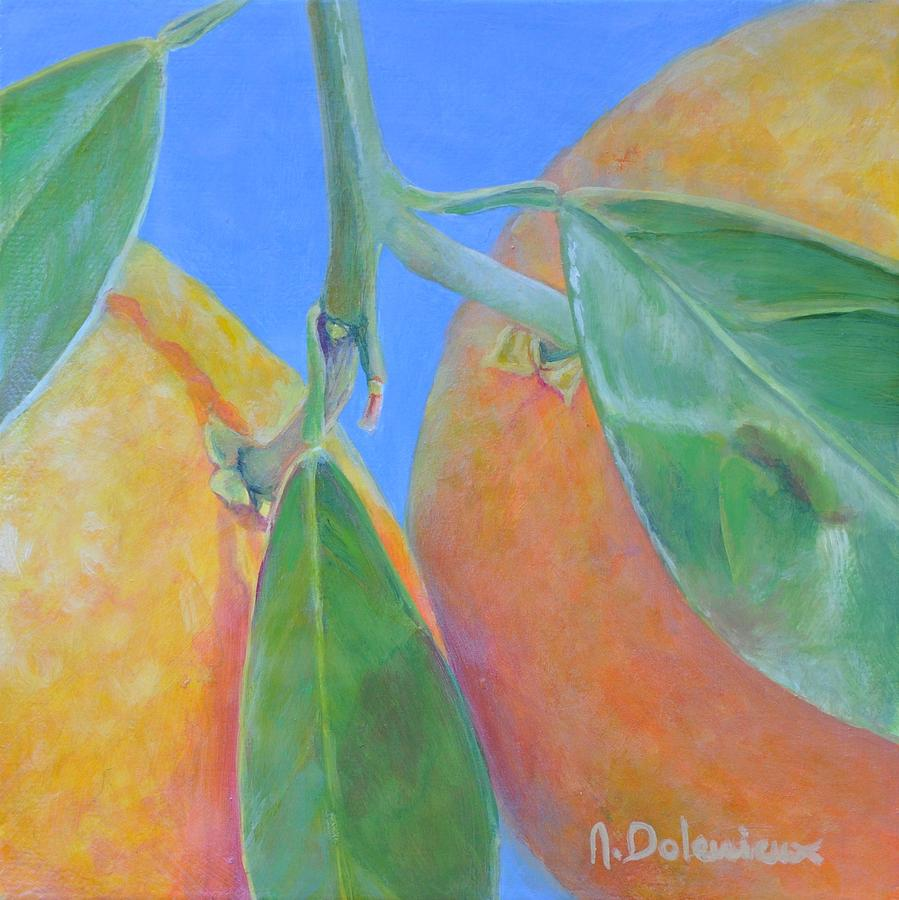 Oranges Ecartelees Painting