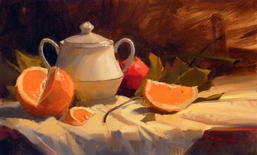 Orange Painting - Oranges by Richard Robinson