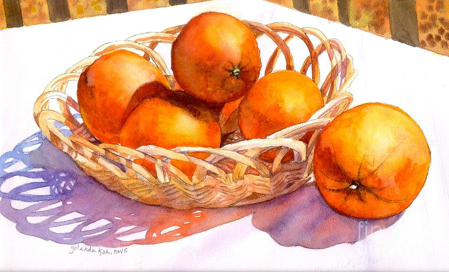 Oranges Painting  - Oranges Fine Art Print