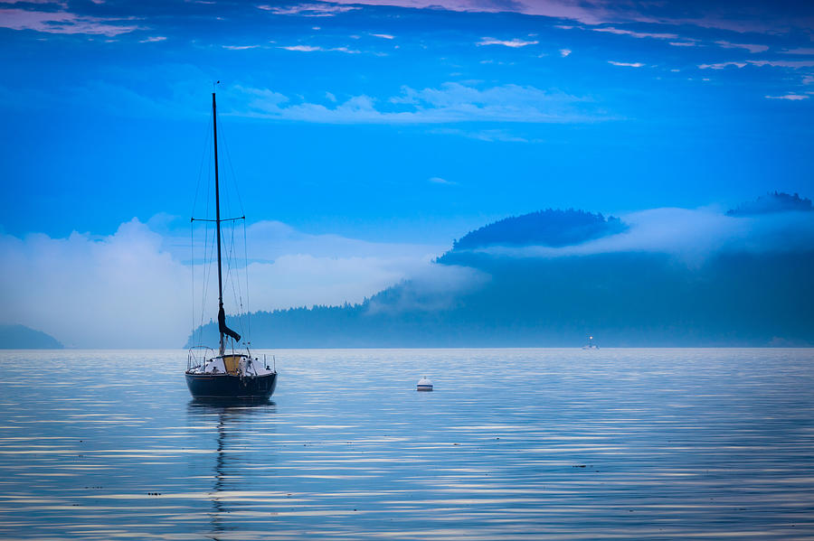Orcas Sailboat Photograph  - Orcas Sailboat Fine Art Print