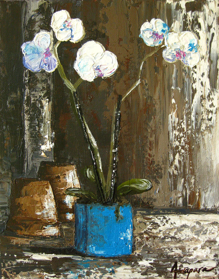 Orchids Stand Tall Painting  - Orchids Stand Tall Fine Art Print