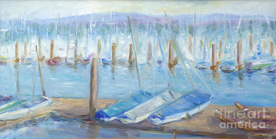 Oregon Harbor Painting  - Oregon Harbor Fine Art Print
