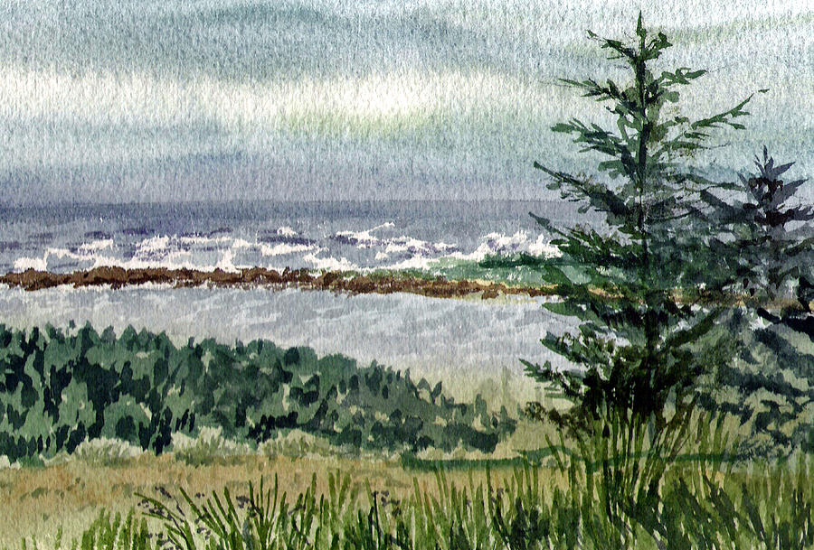 Oregon Shore Painting  - Oregon Shore Fine Art Print