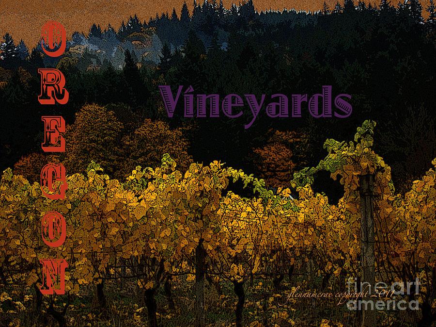 Oregon Vineyards Digital Art