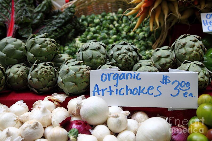 Organic Artichokes - 5d17065 Photograph