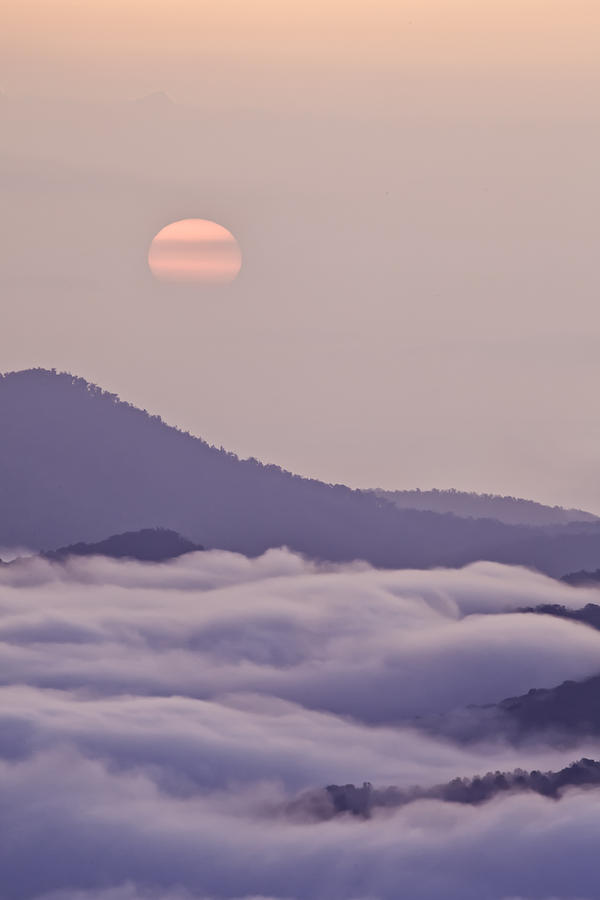 Oriental Blue Ridge Sunrise Photograph  - Oriental Blue Ridge Sunrise Fine Art Print