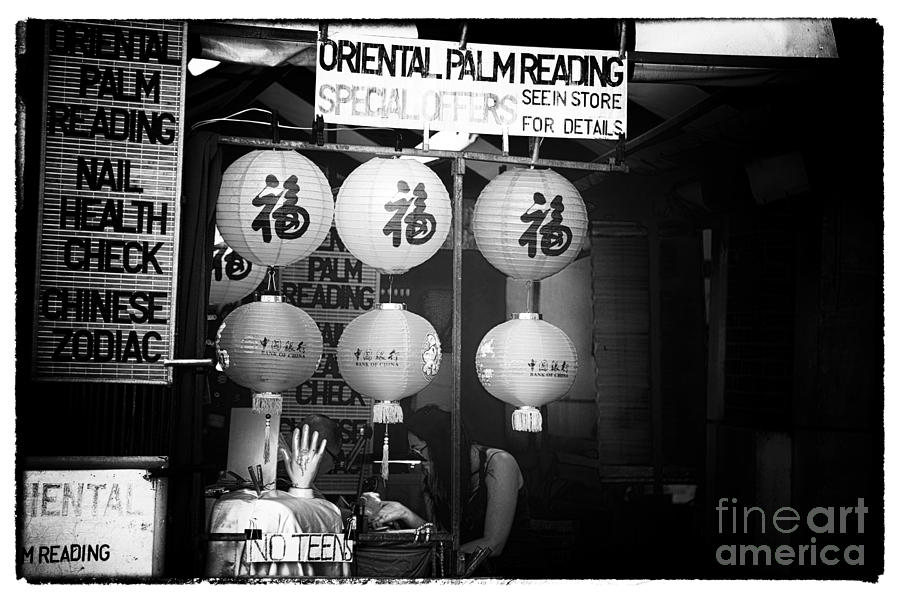 Oriental Palm Reading Photograph  - Oriental Palm Reading Fine Art Print