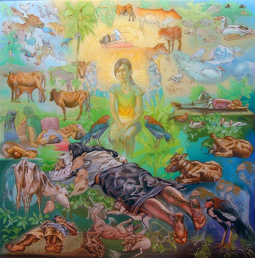 Origin Of The Goddess Painting