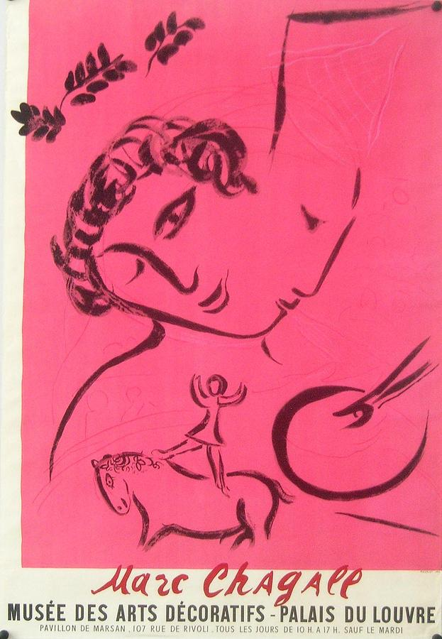 Original 1959 marc chagall exhibition poster le peintre en for Chagall peintre