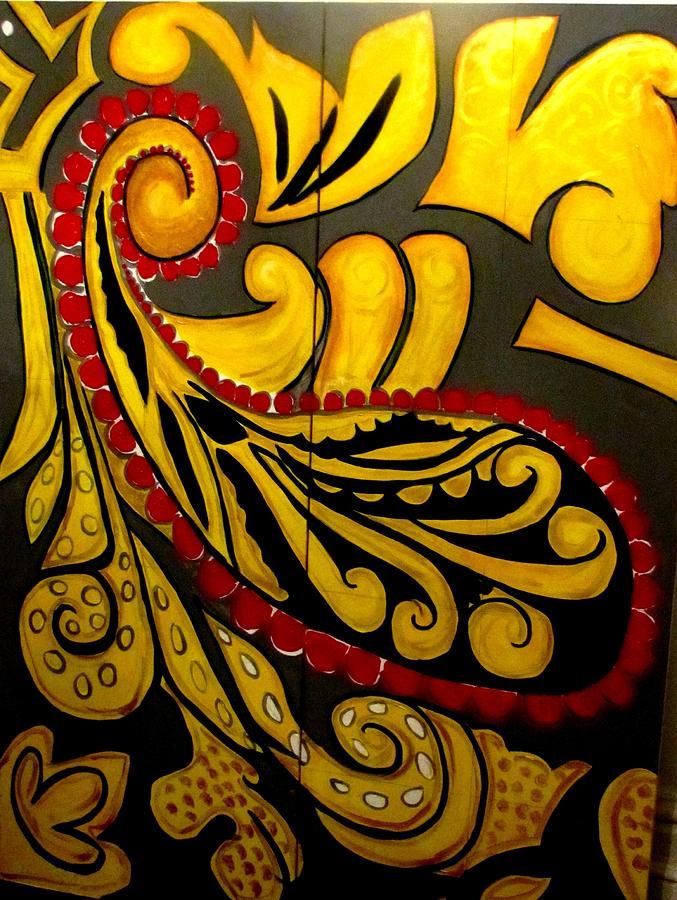 Original Art Room Divider Painting By Lorraine Downey