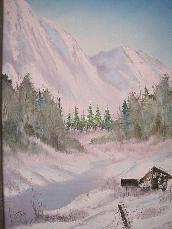 Original Bob Ross Painting Painting by Stacey Rabe
