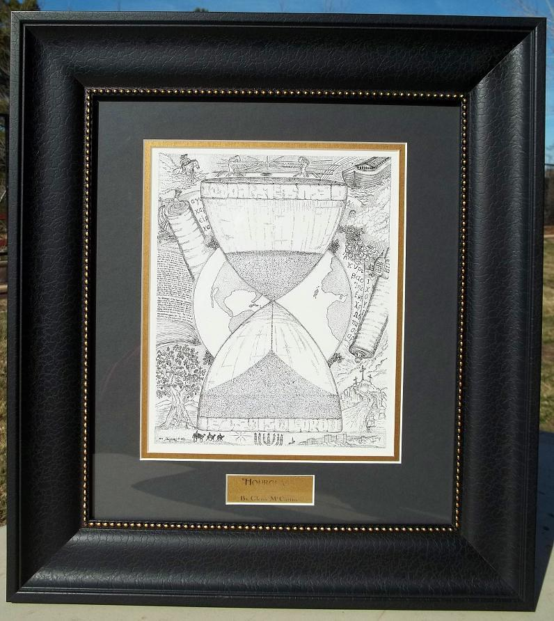 Original-hourglass-framed Drawing