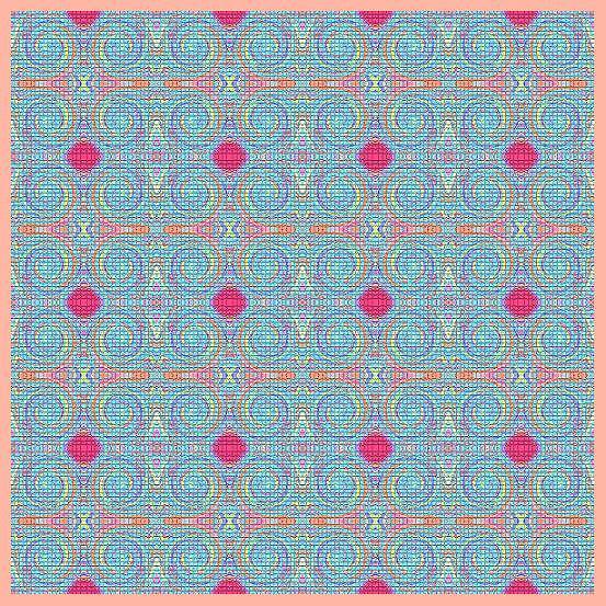 Original Light Blue Patterns Painting
