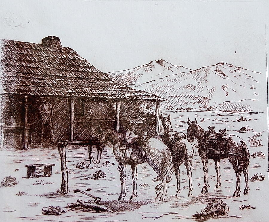 Original Western Artwork 5 Drawing