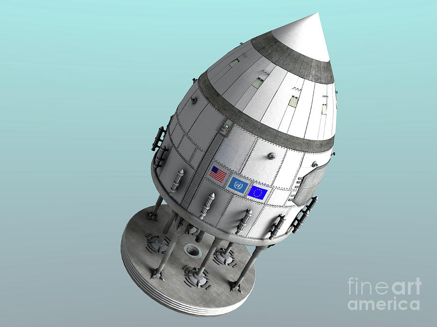 Horizontal Digital Art - Orion-drive Spacecraft In Standard by Rhys Taylor