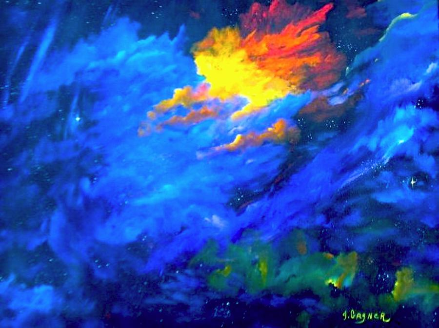 Orion Nebula Painting by Judy Gagner