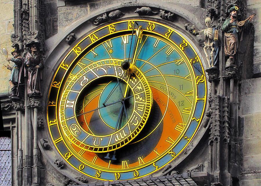 Astronomy Photograph - Orloj - Astronomical Clock - Prague by Christine Till