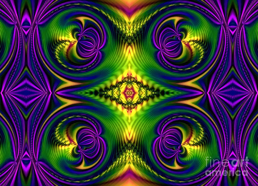 Ornamental Flourish Digital Art  - Ornamental Flourish Fine Art Print