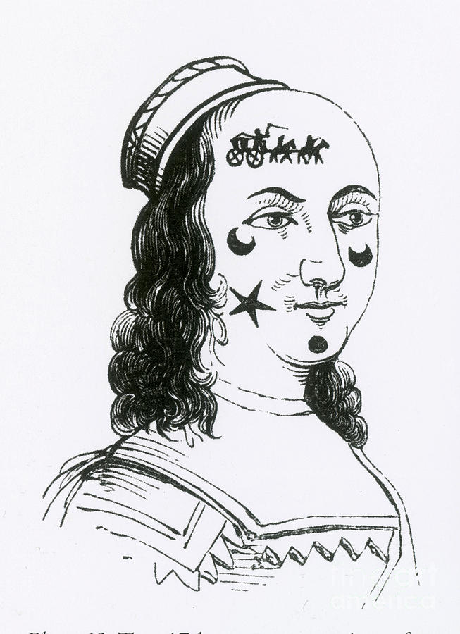 Ornamental Patches On Face, 17th Century Photograph