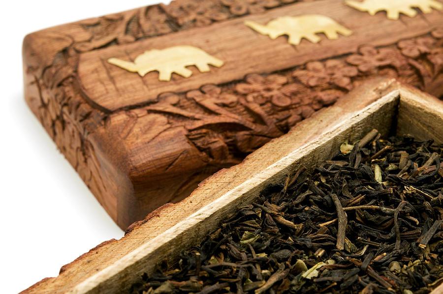 Ornate Box With Darjeeling Tea Photograph
